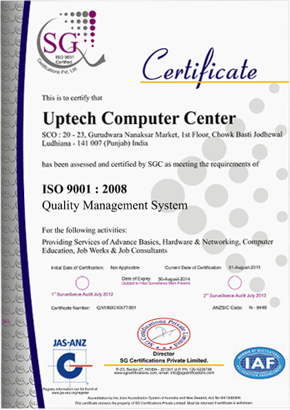 UPTECH COMPUTER EDUCATION REGD JOB CONSULTANTS